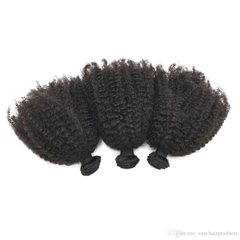 Brazilian Virgin Human Hair Bundles 3pcs Unprocessed Kinky Curly Hair Extensions No Shedding No Tangle G-EASY