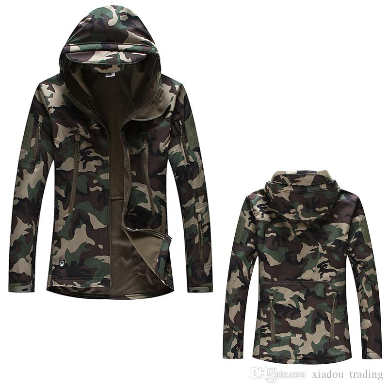 Wholesale Lurker Shark Skin Softshell V4 Military Tactical Jacket Men Waterproof Windproof Warm Coat Camouflage Hooded Camo Army Clothing