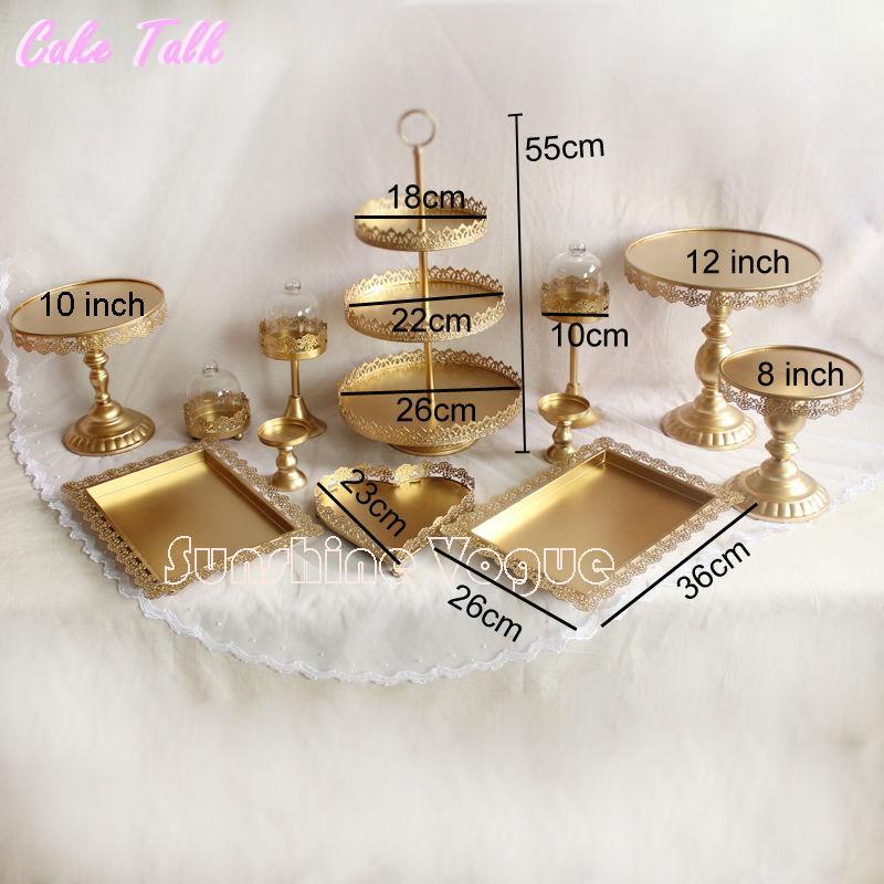 gold cake stand set (8)