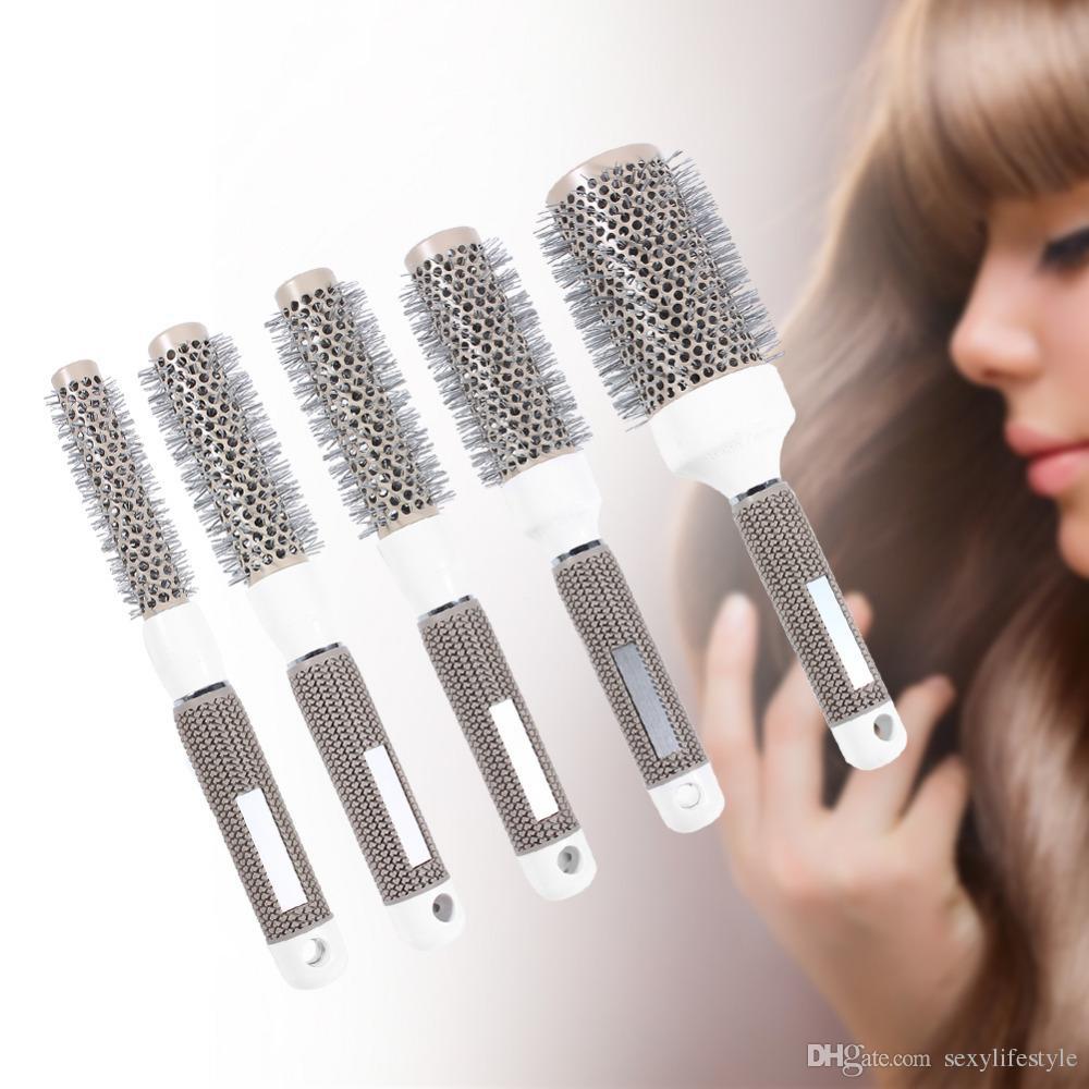 Profesjonalne szczotki do ubierania włosów Wysokiej odporności na wysoką temperaturę Ceramiczną Round Grzebień (19mm) 5 Rozmiar narzędzia do stylizacji włosów