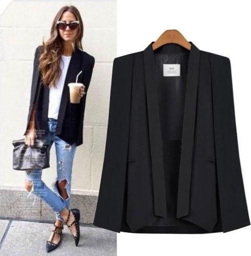 Frauen Mantel Cape Blazer Poncho Jacke Revers Split Suit Blazer Schal Kragen Büro Damen Business Outwear New Fashion Coat