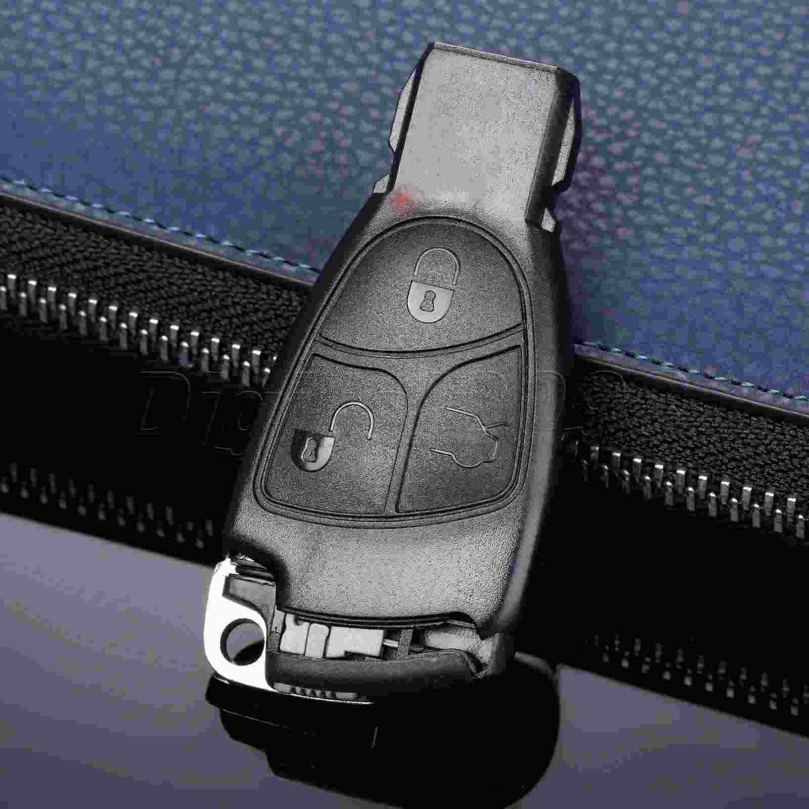 Yetaha 3 Buttons Replacement Shell Remote Key Fob Case Insert Key Tablets For Mercedes Benz C B E S CL CLS CLK ML SLK Car-covers