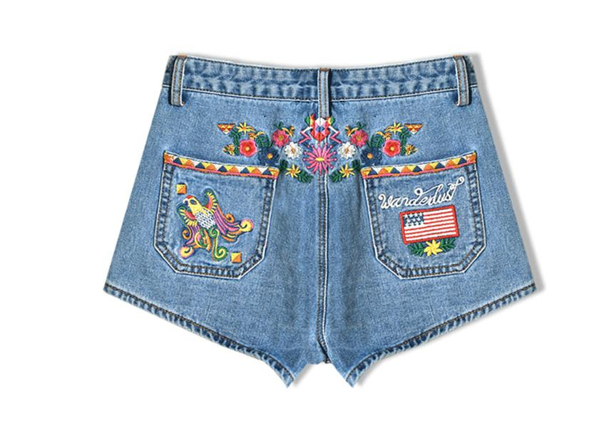 2017 2017 High Waisted Jean Shorts For Women Summer Blue Skinny ...