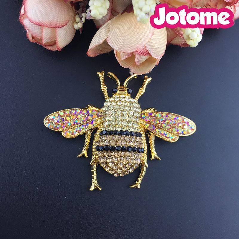Bumble smalto tono oro insetto bumble miele spilla pin spilla collare pin spilla per le donne
