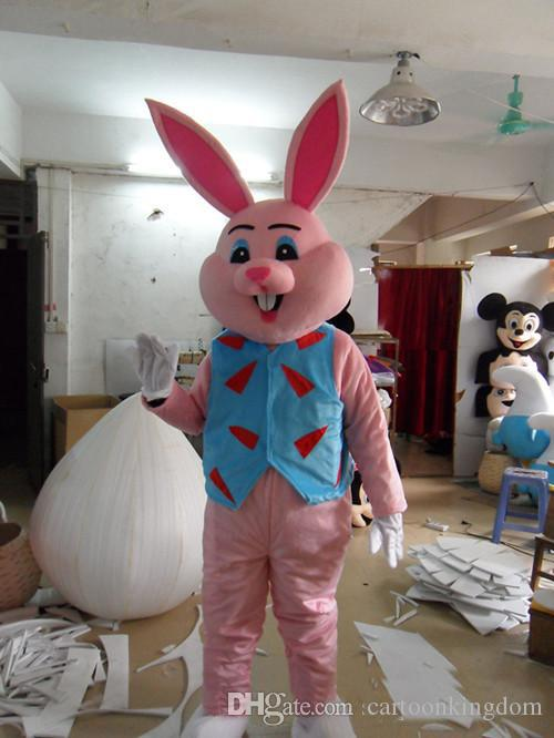 Hot A rabbit in a floral shir bear mascot costume cute cartoon clothing factory customized private custom props walking dolls doll clothing