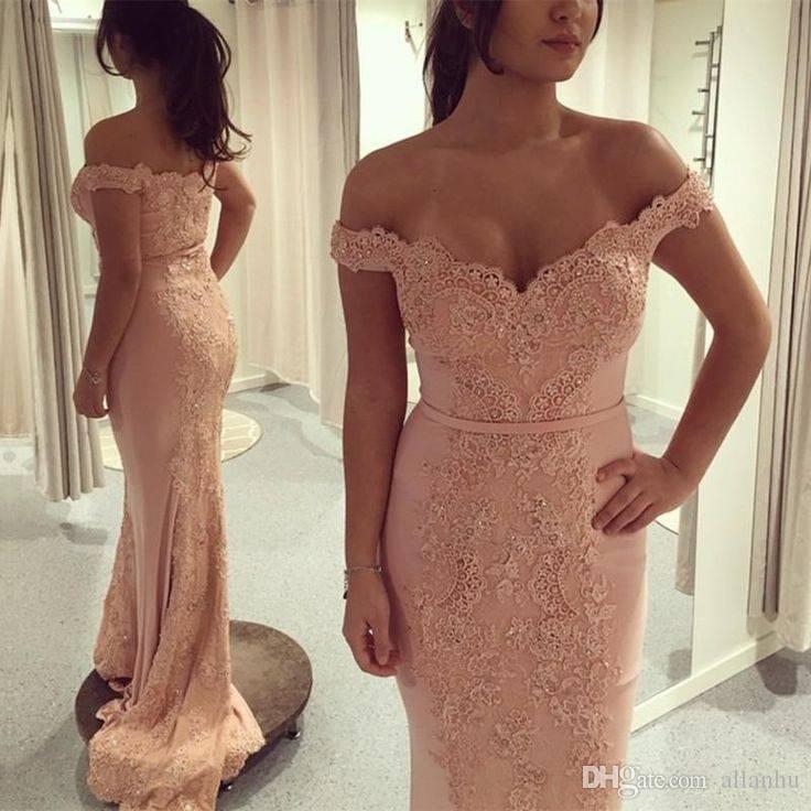 Coral 2018 nuovo design sirena abiti da sera fuori spalla pizzo applique applique applique sweep sweep treno ball gown prom vestito abito abito abito abitudine