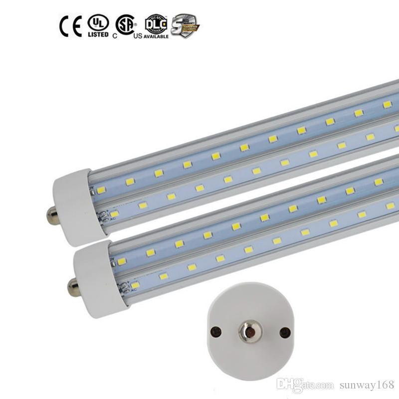 Super Bright 36W T8 ha condotto il tubo 1500 millimetri luce 5FT abbassamento della temperatura porta a forma di V Warm unico perno Fa8 Led della lampada delle lampadine / bianco freddo AC85-265V UL