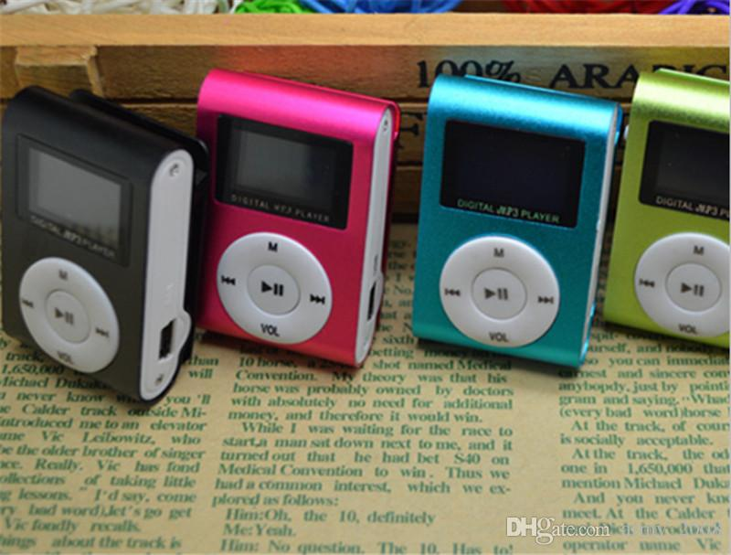 Mini Clip Mp3 Player With LCD Screen Support Micro SD Card 100PCS