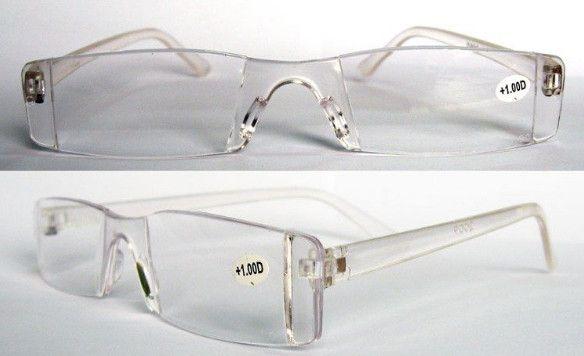20pcs / lot loupe claire incassable lunettes de lecture / lunettes de lecture en plastique acceptent l'ordre mélangé