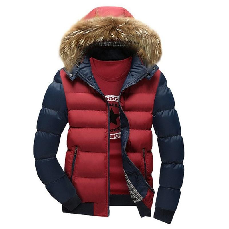 Wholesale- Hot Winter Men Jacket Warm cotton coat mens casual hooded jackets Handsome Outwear thicking Parka Plus size XXXL Coats