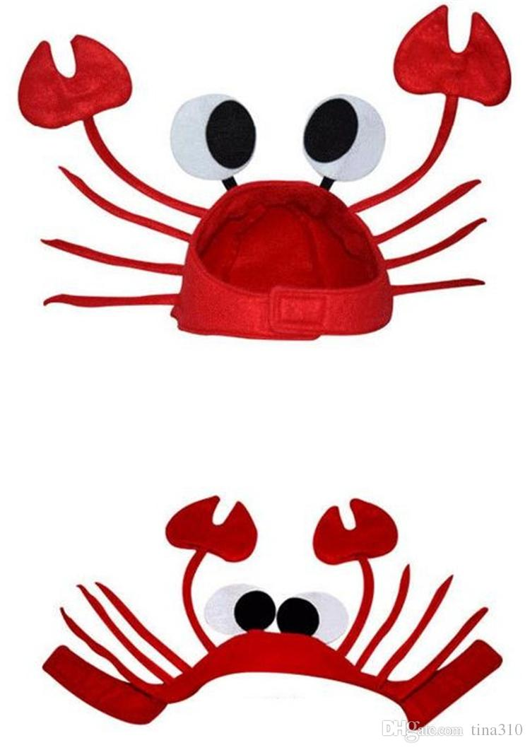 Red Crab Hats Adult Children'S Holiday Props Company Parties Funny ...