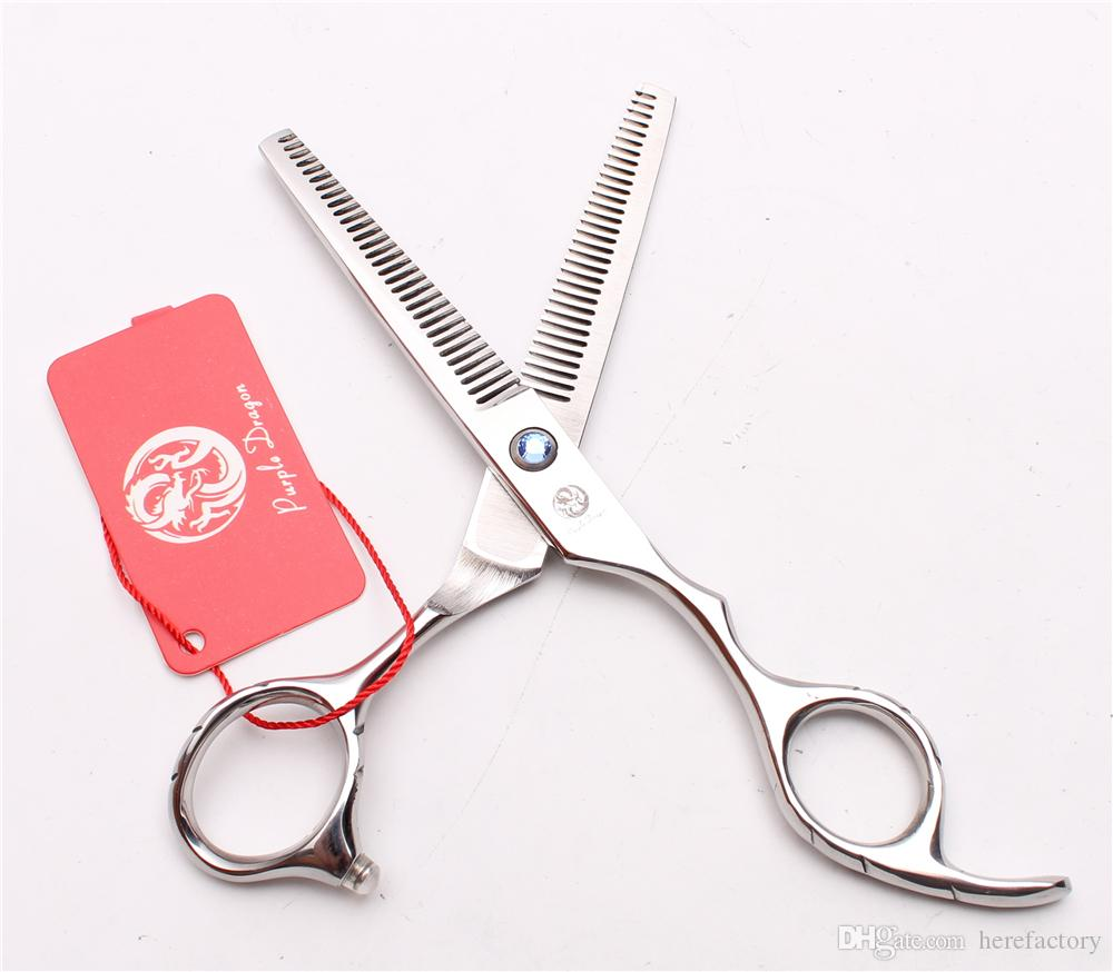 """5,5 """"16 cm Japan 440C Lila Drache Professionelle Menschenhaarscheren Friseurscheren Doppelseitenzähne 15% Verdünnung Rate Z2001"""