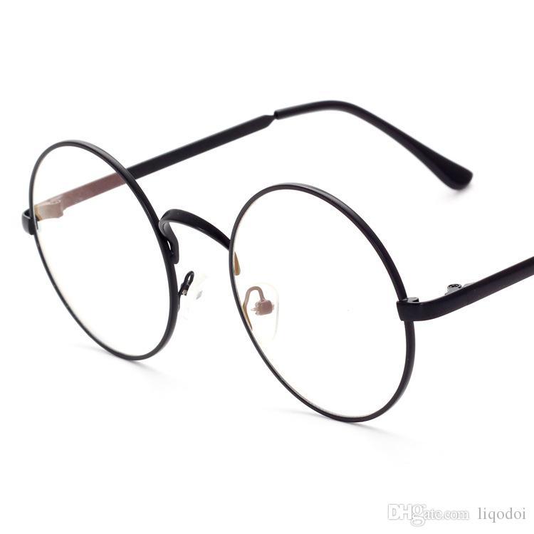 هاري بوتر نظارات الكمبيوتر العدسات المستديرة إطار معدني النظارات النساء الرجال مكافحة الأزرق oculos دي غراو نظارات شفافة