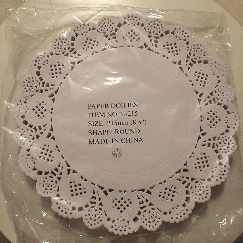 1500pcs 8.5 inches white round lace paper doily cake food paper doyley pad FREE SHIPPING