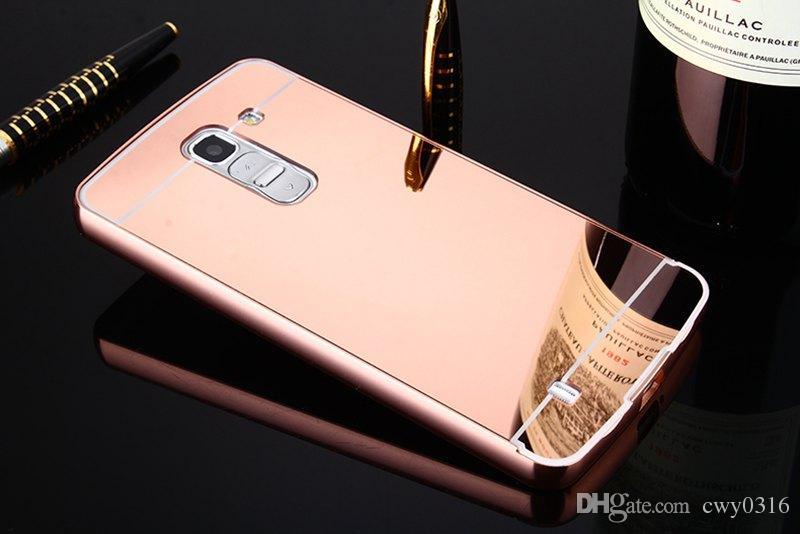 sale retailer 1b301 70948 Mirror Aluminum Phone Case For LG G PRO2 F350 Luxury Metal Frame Acrylic  Back Cover For LG GPRO2 F350 Case Cell Phone Cover Cell Phone Wallet Case  ...
