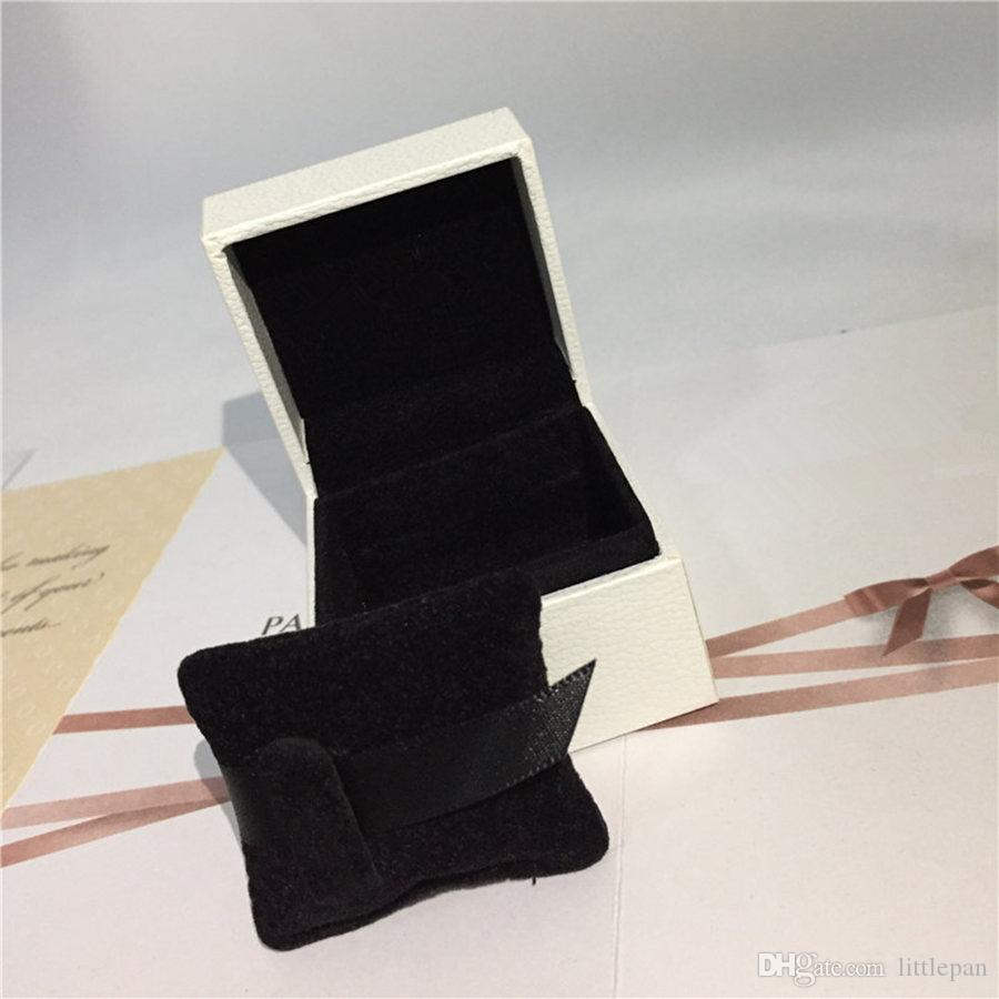 Подушка губка внутри белой бумаги коробка европейский стиль для Pandora Шарм шарик мотаться кулон размер 5x5x4cm