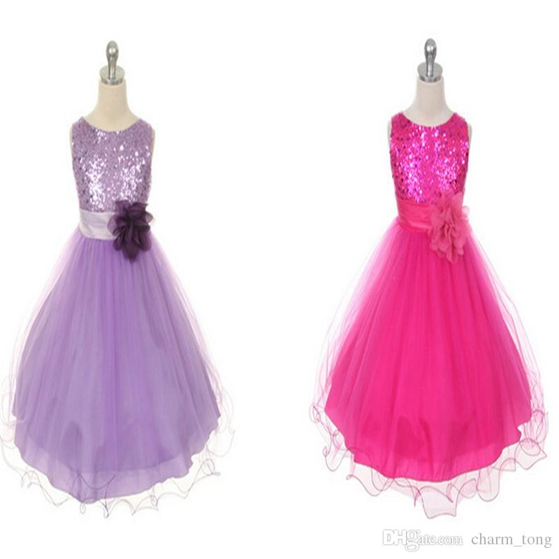 New Flower Girl Dresses Hot Sale Princess Party Pageant Communion Dress for Little Girls Kids/Children Dress for Wedding