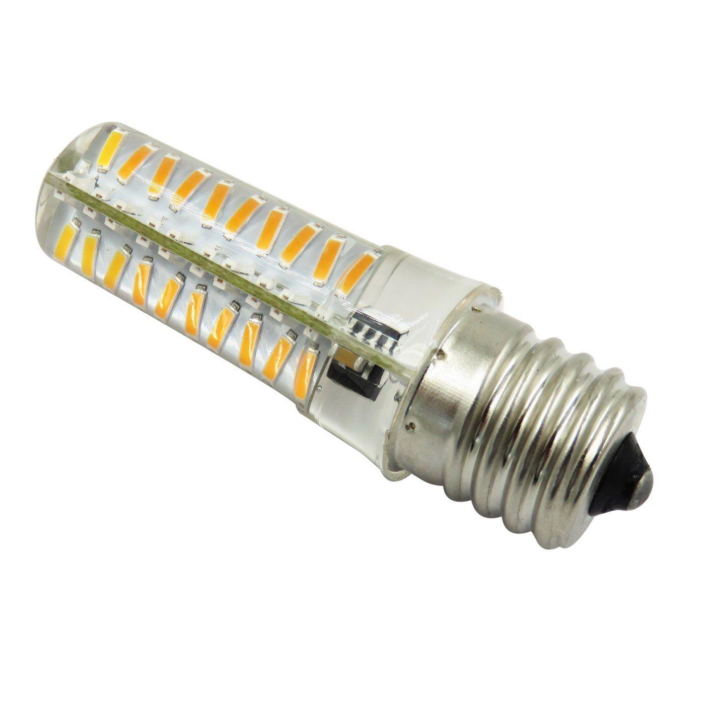 E17 LED Bulb Dimmable 110V/220V 5W 460 Lumens Transparent Microwave Oven Refrigerator Lamp Ceiling Fan Light Candelabra Bulb (pack of 10)