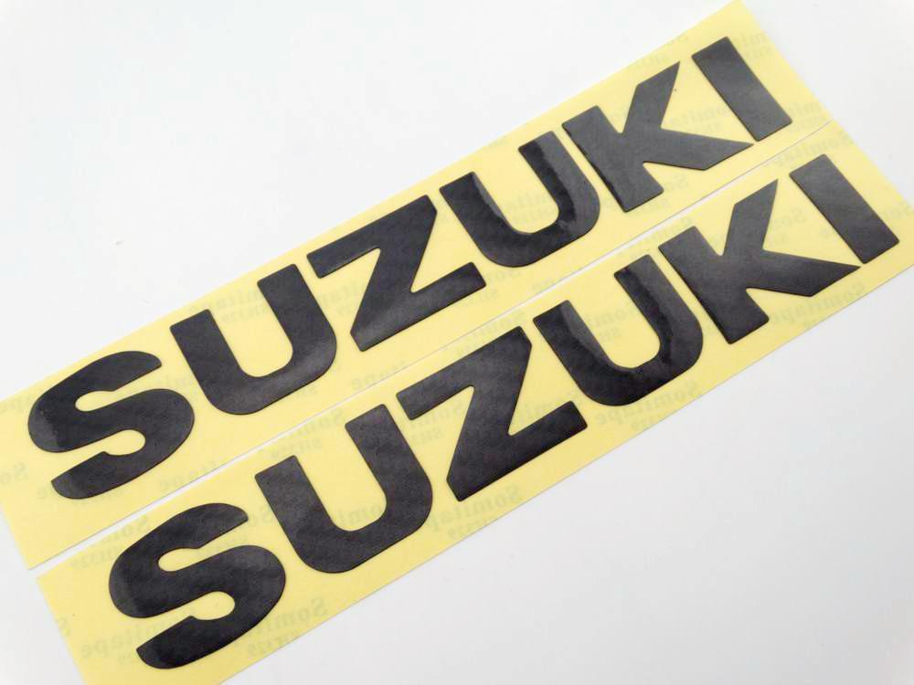 Fuel Tank Fairing Emblem Decals For Suzuki Stickers Racing Motorcycles Carbon Fiber