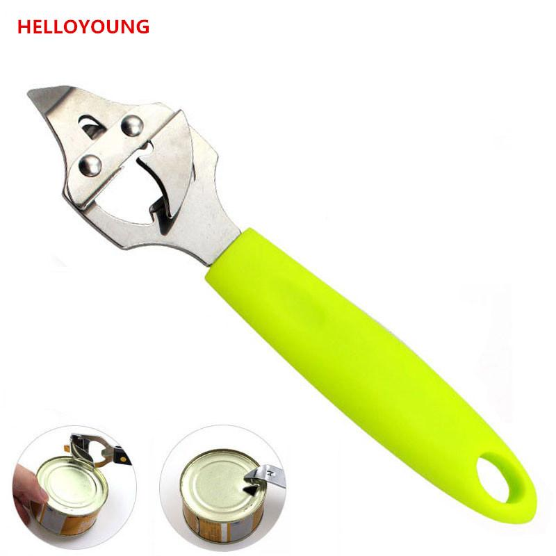 Brand High quality green ABS handle with Stainless Steel multifunction opener bottle beer opener can opener