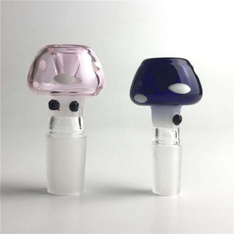 Nuova ciotola di vetro da 14 mm 18mm con blu rosa colorato stile colorato colorato ciotola di vetro colorato spesso ciotole di vetro Pyrex per Bongs