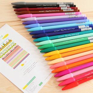 새로운 디자인 24 컬러 / 많은 젤 펜 모나미 플러스 펜 한국어 문구 Canetas Papelaria Zakka 선물 사무실 재료 포함 Escolar 학교 용품