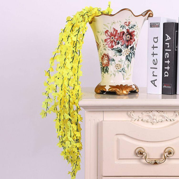 60cm Artificial Hanging Vine Fake Foliage Flower Leaf Garland Plant Home Decoration (23.5 inch length) 8 Colors for choose