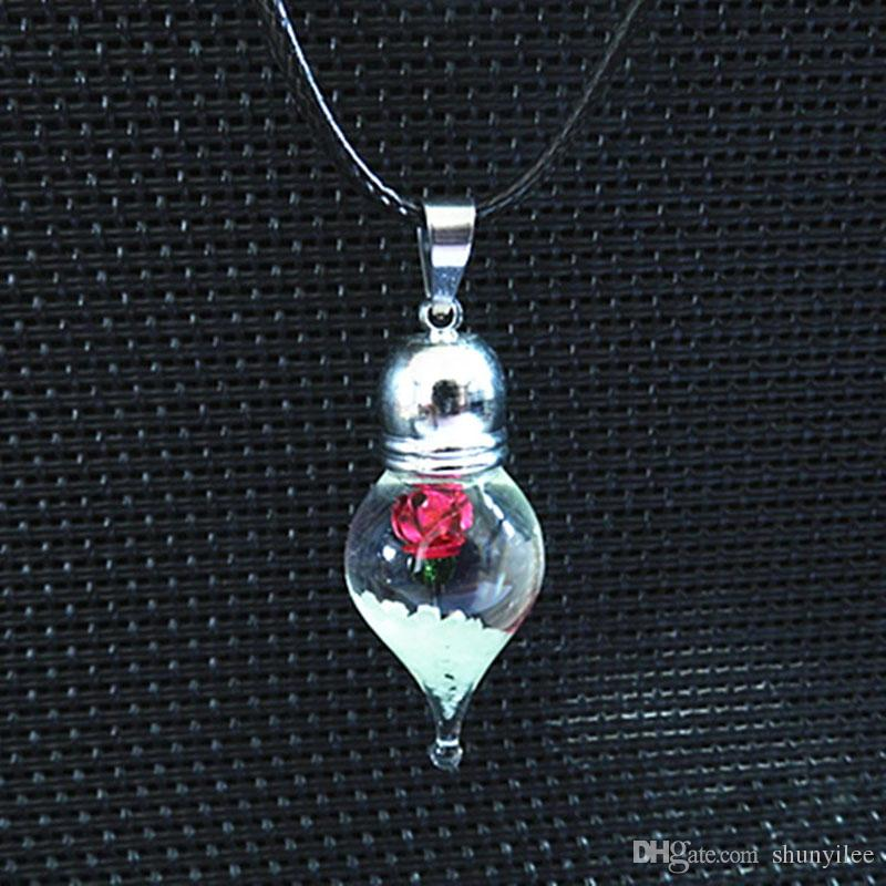 1ml Mini a forma di cuore Bottiglia di profumo di vetro Fiala Campione di prova Pot Piccolo liquido Contenitore cosmetico romantico Vuoto Ricaricabile ZA3436