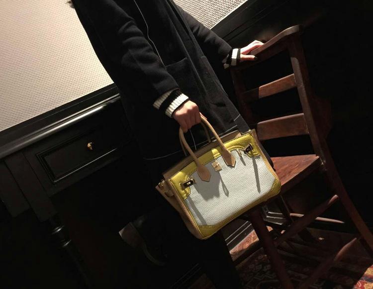 Handbag Genuine Leather Women\`s Litchi Cowhide Messenger Bag Famous Designer Shoulder Crossbody Tote 2016 Luxury Ladies Bolsa 66