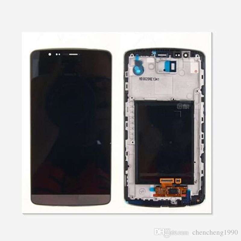 For LG G3 D850 D851 D855 VS985 LCD Display Touch Screen Digitizer With Frame Replacement Parts 1pcs/lot free shipping
