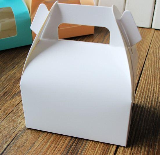 أبيض ورقة كعكة مربع مع handle_wedding حزب صالح صناديق جيدة لهدية هدية مربع التعبئة والتغليف الكعك الصابون