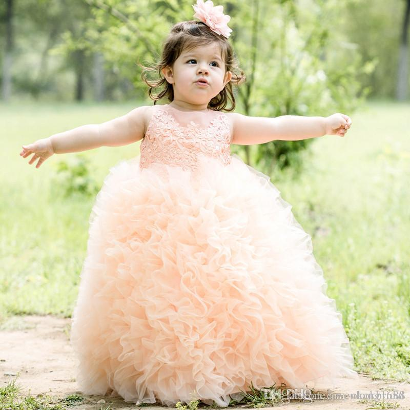 Vestidos Primera Comunion 2016 Free Shipping Toddler Glitz Pageant Dresses Lovely Flower Girl Dress Ball Gown