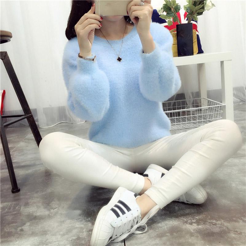 도매 스웨터 오버 사이즈 스웨터 2016 캐시미어 Sueter Mujer 한국 가을 겨울 따뜻한 점퍼 풀오버 Mohair New