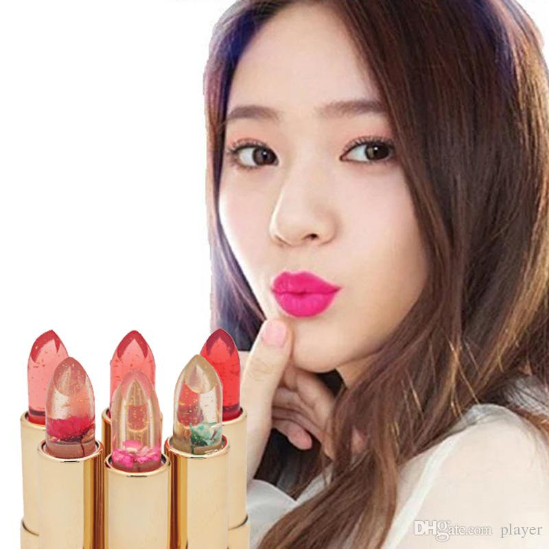 Moisturizing Lipsticks Flowers Discoloration Jelly Lip Stick Lip Balm Professional Lip Care