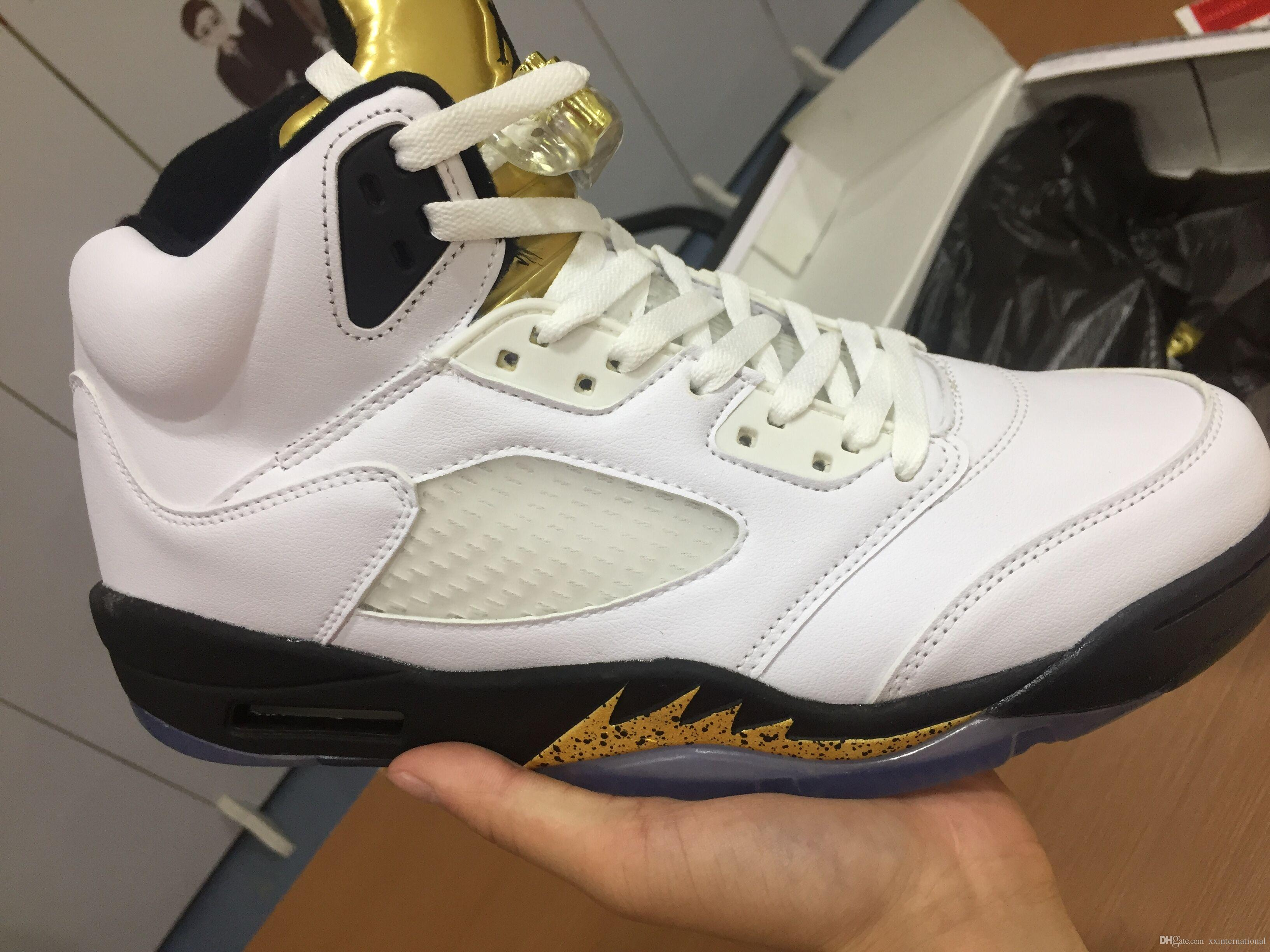 huge selection of bc338 b7701 New Ordinary Sneakers Air Retro 5 Olympic Metallic Gold Shoes For  Basketball Sports 2016 Retros 5s 136027 133 Outdoor Shoes With Box Sports  Shoes ...