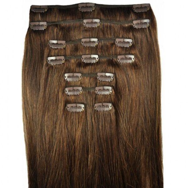 """5A 1B# натуральный черный клип в человеческих волосах Extesnison 70 г 7 шт. 26 """" Virgin бразильский индийский глубокая волна клип в наращивание волос dhl бесплатно"""
