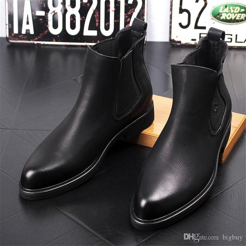 original 2020 famous designer brand New Arrival Fashion Mens Leather Chelsea Boots Casual Flats Brand Men'S  Ankle Martin Boot Vintage Shoes Wellies Boots For Women From Bigbuy,  $37.19| ...
