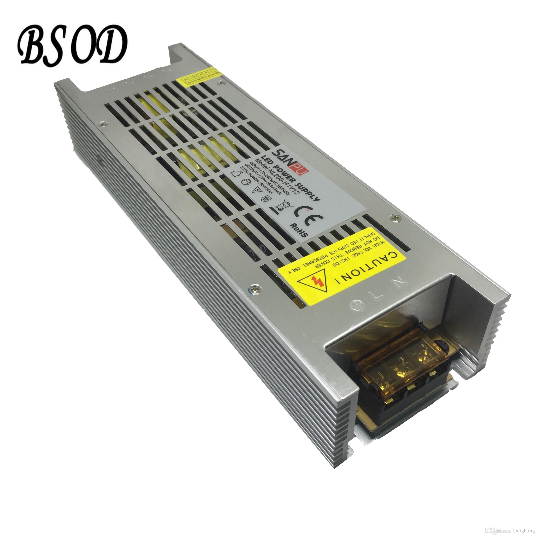 SANPU 200 W DC12V / DC24V Interruttore Alimentatore CA-CC LED Trasformatore di illuminazione NL200-W1V12 Alluminio ultra sottile Shell 16.6A MAX Driver