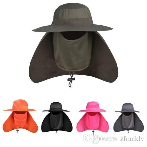 Unisex Brim Sun Block Quick Drying Fishing Sun Cap Climbing Bucket Hat Windproof / UV protection / Quick-drying New