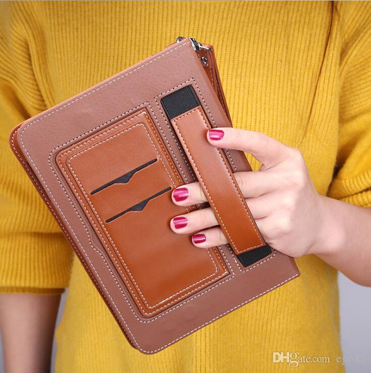 Leather Case for iPad Pro 9.7 Case Flip Stents Dormancy Stand CoverCard Slot case compatible for iPad air2