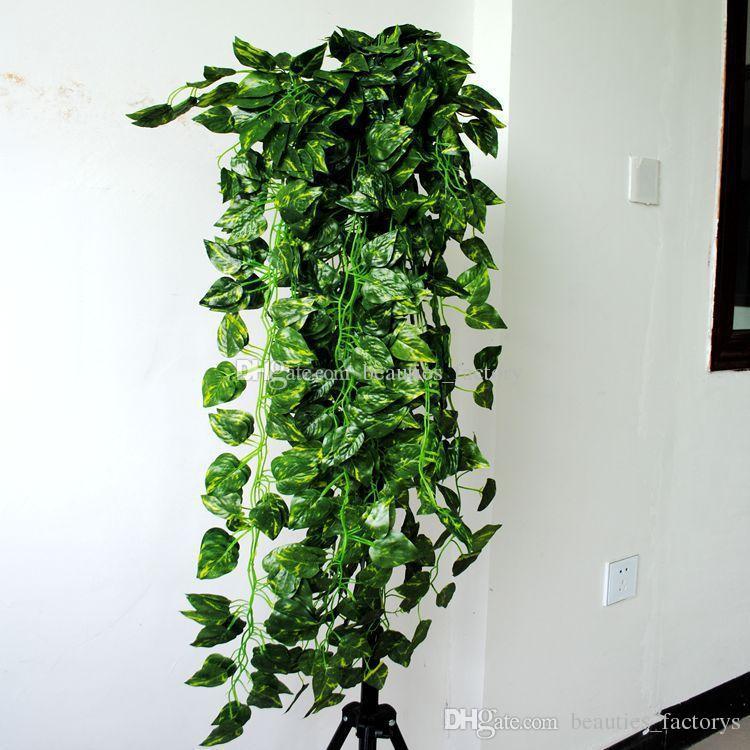 90cm künstliche hängende Rebe Gefälschte grüne Blatt-Girlanden-Betriebsausgangsdekoration (35-Zoll-Länge) 3 Art für wählen