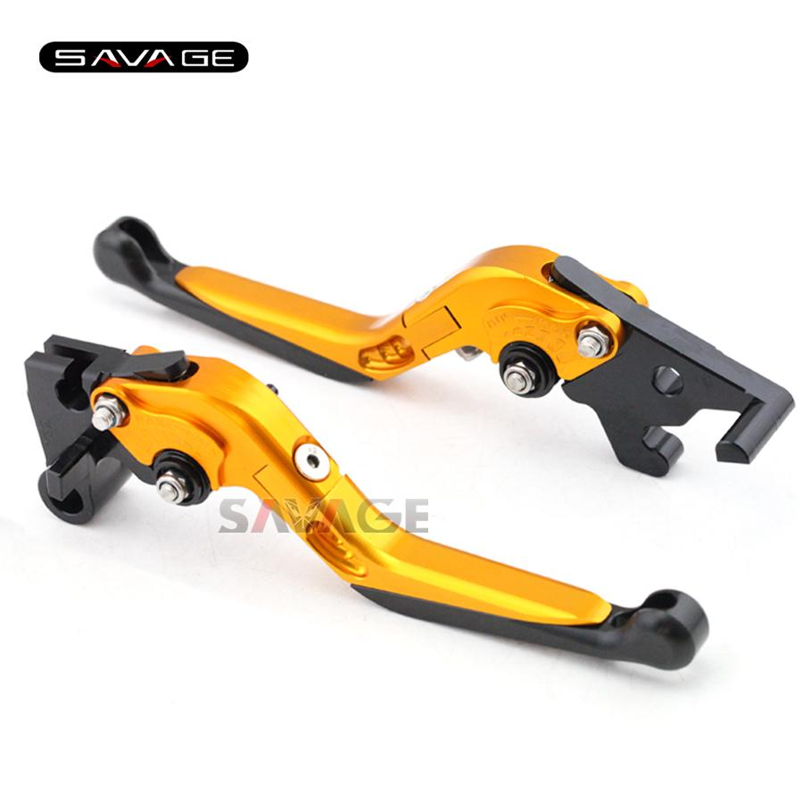 For YAMAHA YZF-R25 YZF-R3 MT-25 MT-03 2015-2016 Motorcycle Adjustable Folding Extendable Brake Clutch Levers Gold+Black