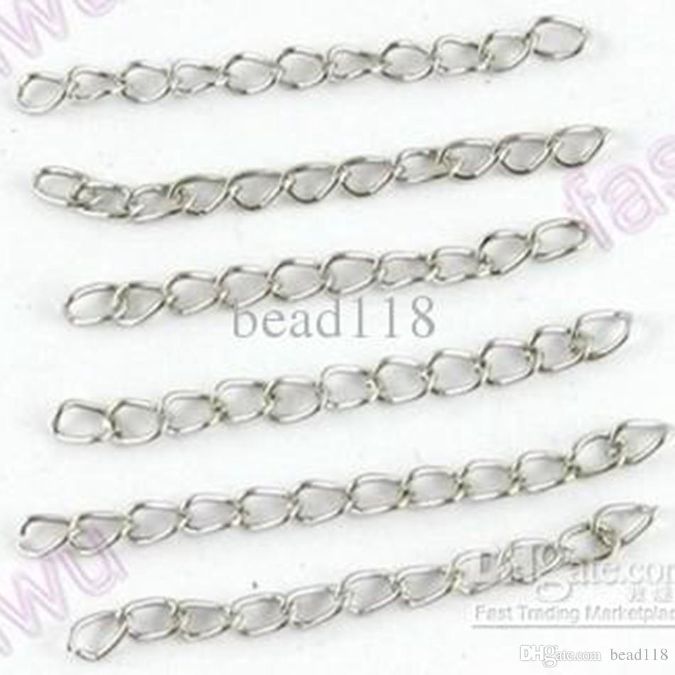"""Heet ! 1000 stks 1.7 """"Tibetaans zilver nuttig metaal Extend kettingen / staart DIY-sieraden"""