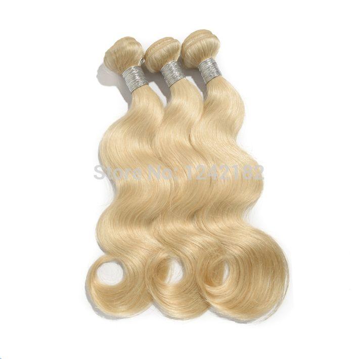 Grade 7A Unprocessed Virgin Hair Malaysian Body Wave 1Pc Natural Wave Bleach Blonde,Human Hai Extensions Weave bundles