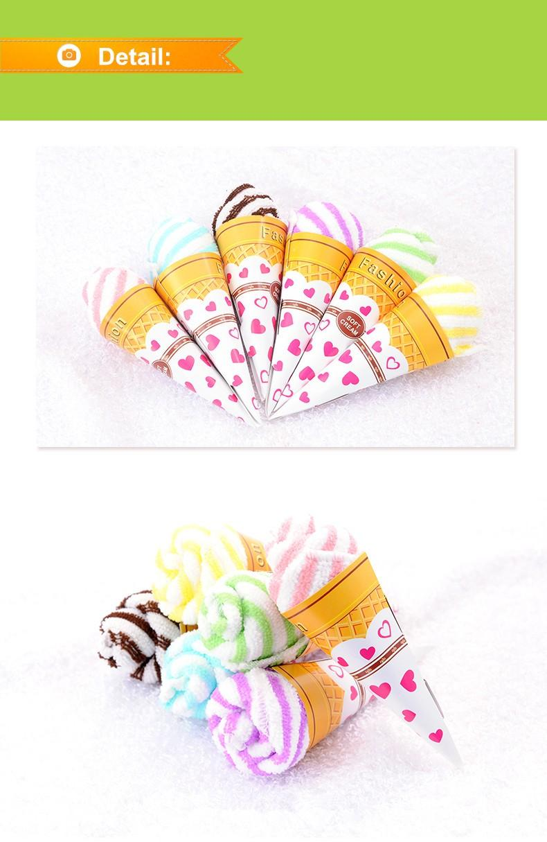 wedding towel ice cream rose flower hand towel for wedding table centerpieces decoration