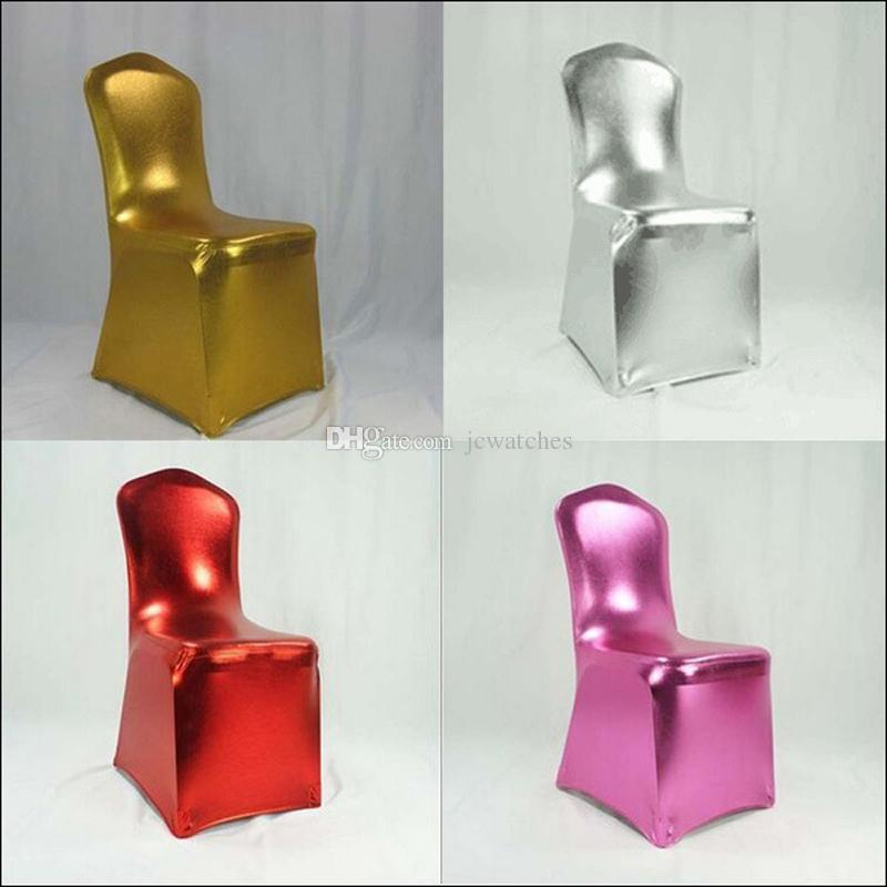 Tremendous Red Pink Silver Gold Weddings Chair Decoration Spandex Stretch Chair Covers Dining Chair Cover Party Supplies Home Textile Table Linens For Bralicious Painted Fabric Chair Ideas Braliciousco