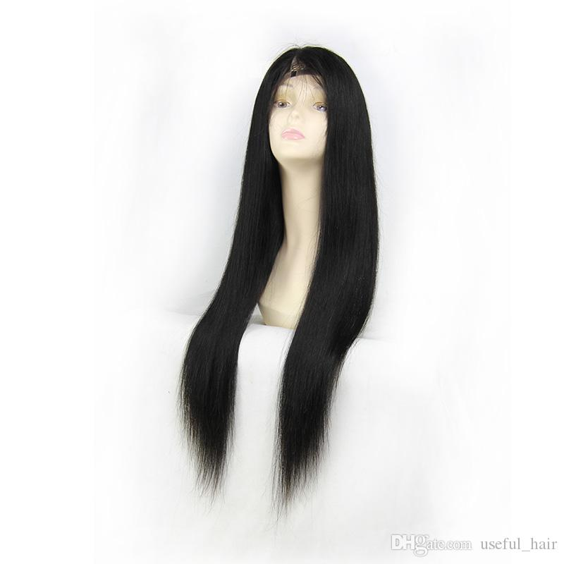 Free shipping 130% Density Lace Front Human Hair Wigs For Black Women Pre Plucked Natural Hairline With Baby Hair Remy Hair straight wig