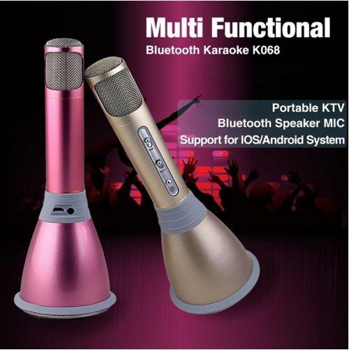 Promotion Bluetooth Sans Fil Microphone Avec Micro Haut-Parleur Condenseur Mini Karaoké Lecteur KTV Chant Enregistrement DHL Livraison Gratuite