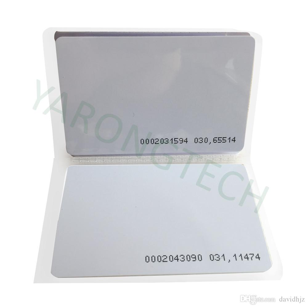Control de la puerta RFID 125KHz la tarjeta de PVC de entrada de proximidad de acceso EM -0.9mm, 100 piezas