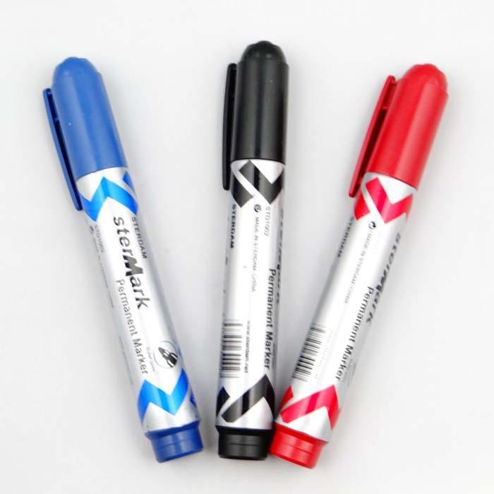 عرض خاص بالجملة وحيد رئيس قلم حبر أسود زيتية لا يمسح قلم علامة القرطاسية الشحن